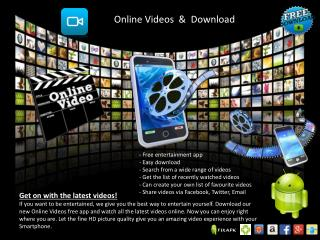 Online Videos Download Free App