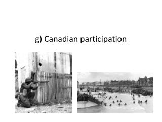 g)  Canadian participation