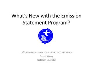 What's New with the Emission Statement Program?