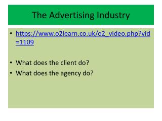 The Advertising Industry