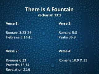 There Is A Fountain Zechariah 13:1