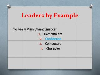 Leaders by Example