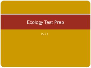 Ecology Test Prep