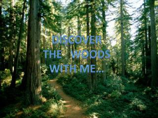 Discover The    wooDS WITH ME…