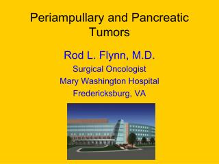 Periampullary and Pancreatic Tumors