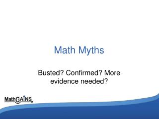 Math Myths