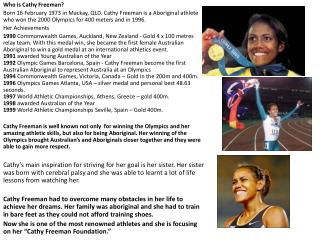 Who is Cathy Freeman?