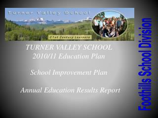 TURNER VALLEY SCHOOL 2010/11 Education Plan School Improvement Plan