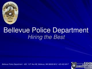 Bellevue Police Department