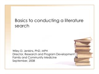 Basics to conducting a literature search