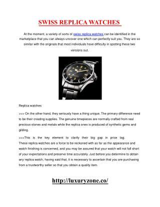 swiss replica watches
