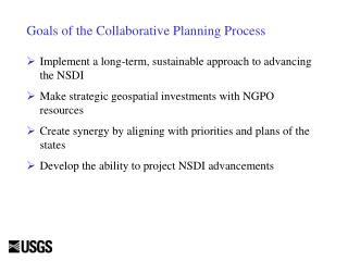 Goals of the Collaborative Planning Process