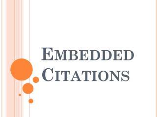 Embedded Citations
