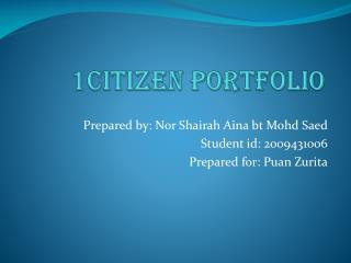 1Citizen Portfolio