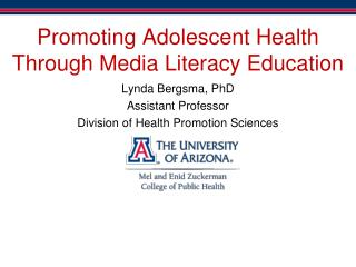 Promoting Adolescent Health Through Media Literacy Education