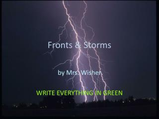 Fronts & Storms