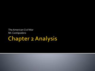 Chapter 2 Analysis