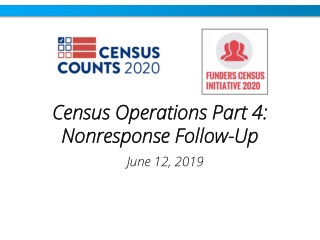 Census Operations Part 4: Nonresponse Follow-Up