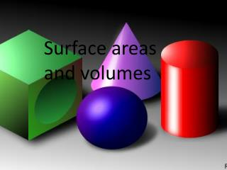 Surface areas and volumes