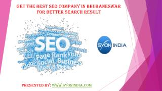 Get The Best SEO Company in Bhubaneswar for Better Search Re