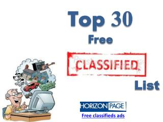 Top 30 Free Best USA Local Classifieds Ads Website List