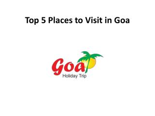 top 5 visiting places in goa