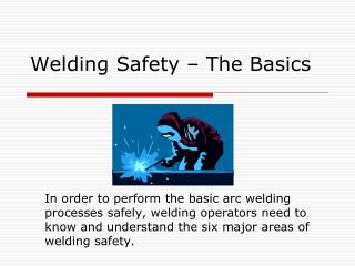 Welding Safety – The Basics