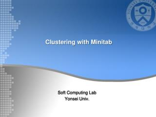 Clustering  with  M initab