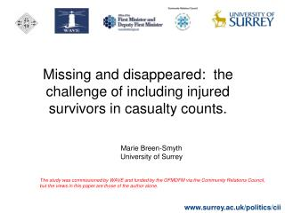 Missing and disappeared:  the challenge of including injured survivors in casualty counts.