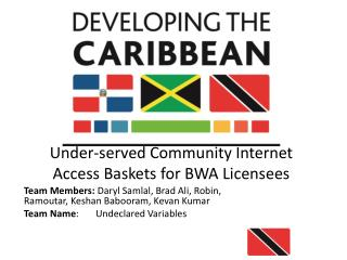 Under-served  Community Internet Access Baskets for BWA Licensees