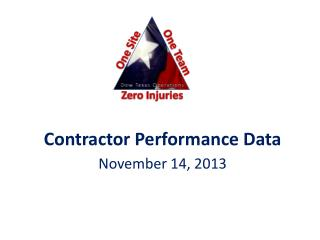 Contractor Performance Data