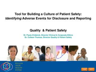 Tool for Building a Culture of Patient Safety: