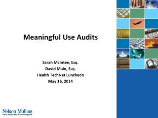 Meaningful Use Audits