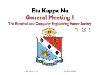 Eta Kappa Nu  General Meeting 1