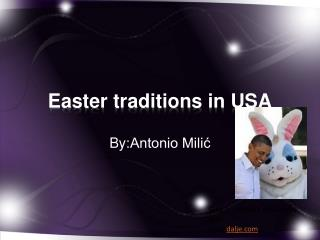Easter traditions in  USA