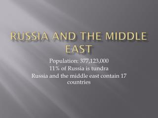 Russia and The Middle East