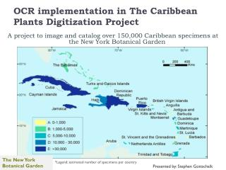 OCR implementation in The Caribbean Plants Digitization Project