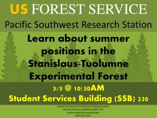 US FOREST SERVICE  Pacific Southwest Research Station