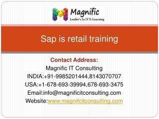 sap is retail online training