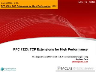 RFC 1323: TCP Extensions for High Performance