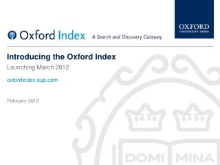 Introducing the Oxford Index