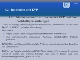 4.2   Innovation und KVP