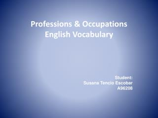 Professions & Occupations English Vocabulary