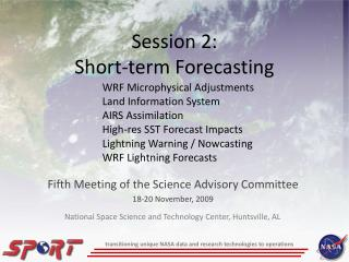 Session 2: Short-term Forecasting