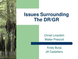 Issues Surrounding  The DR/GR
