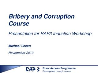 Bribery and Corruption Course