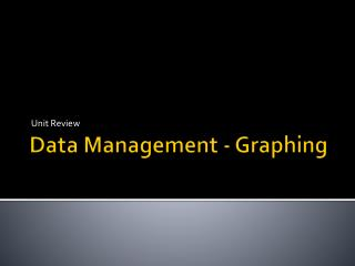 Data Management - Graphing