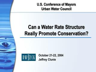 Can a Water Rate Structure Really Promote Conservation?