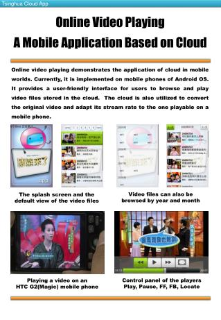 Online Video Playing  A Mobile Application Based on Cloud