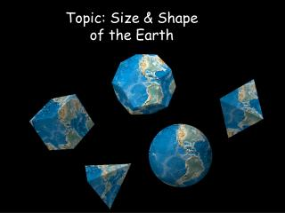 Topic: Size & Shape  of the Earth